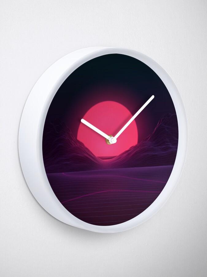 Alternate view of Neon Sunset Clock