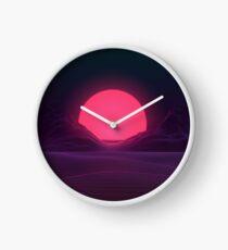 Neon Sonnenuntergang Uhr