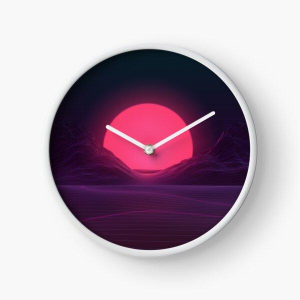 Neon Sunset Clock
