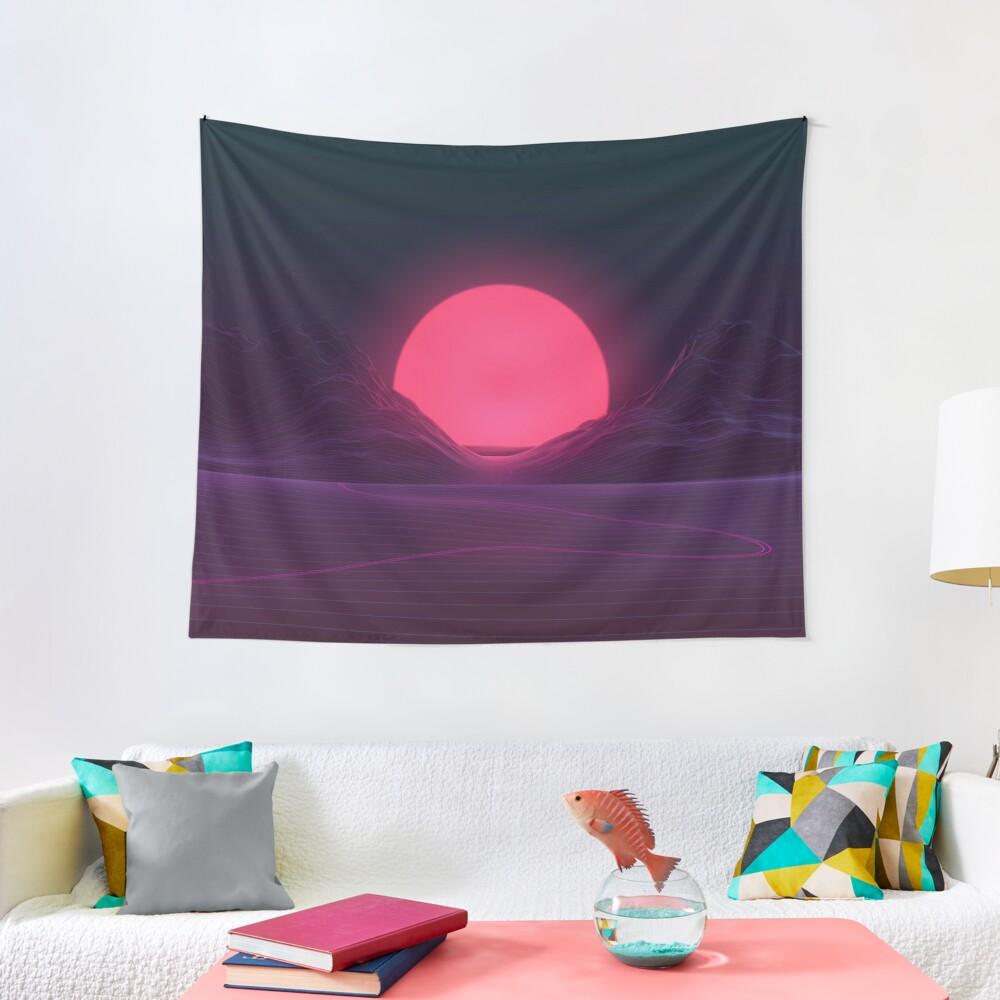 Neon Sunset Tapestry