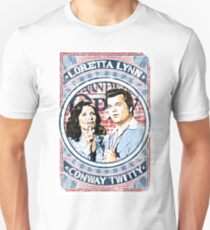 Conway Twitty, Loretta Lynn. Country Music. Nashville Unisex T-Shirt