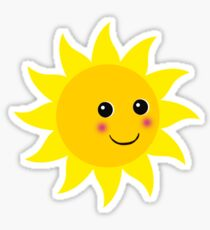 Friendly Sun Sticker
