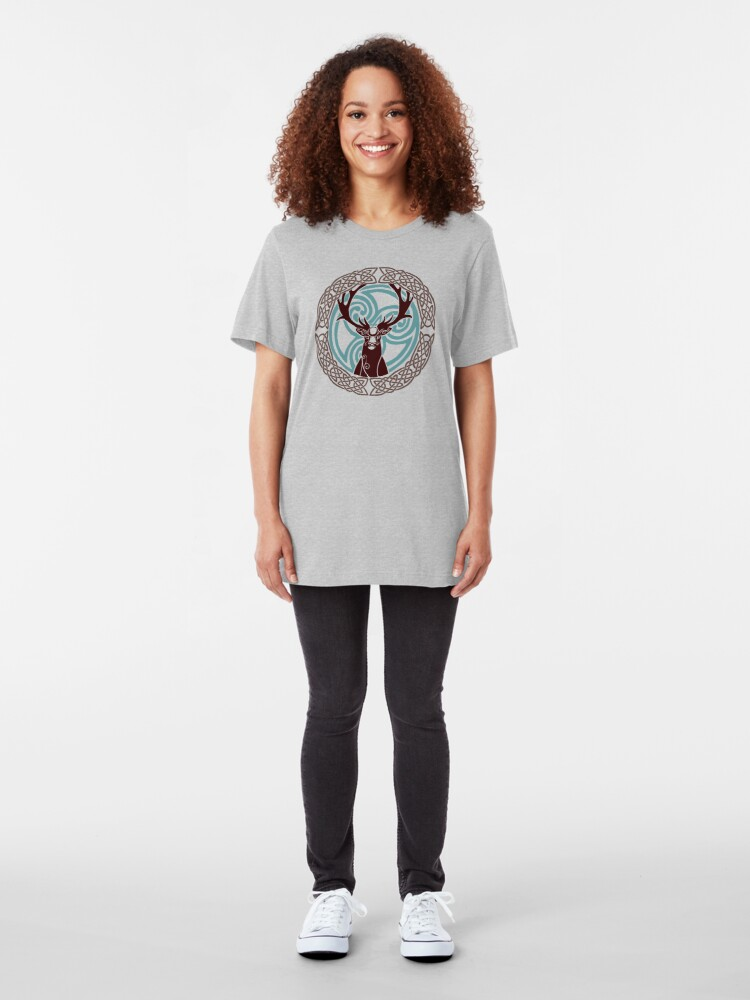 Alternate view of I am a Stag: of seven tines  Slim Fit T-Shirt
