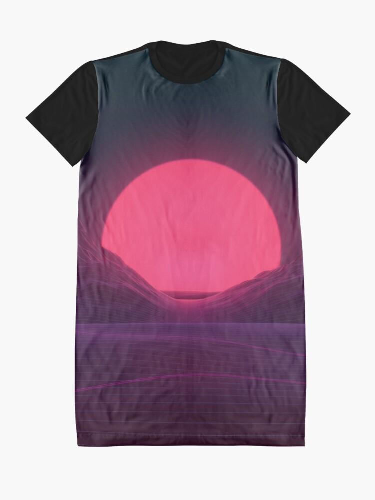 Alternate view of Neon Sunset Graphic T-Shirt Dress