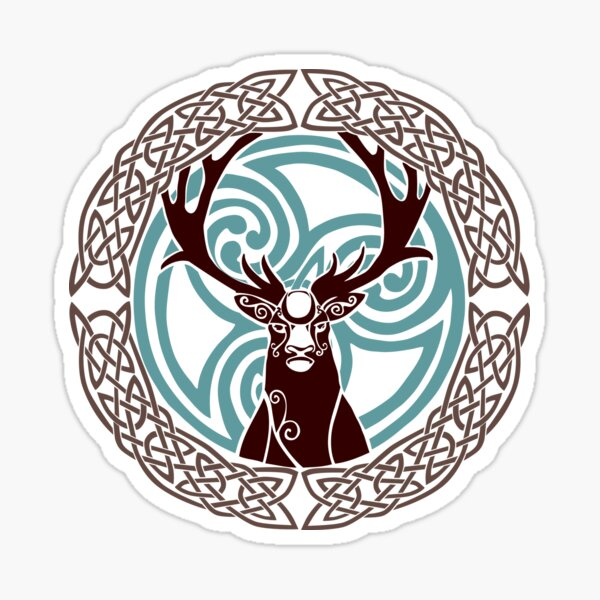 I am a Stag: of seven tines  Sticker