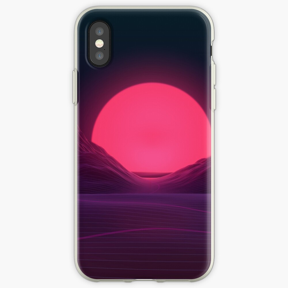 Neon Sunset iPhone Cases & Covers