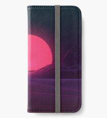 Neon Sonnenuntergang iPhone Flip-Case/Hülle/Skin