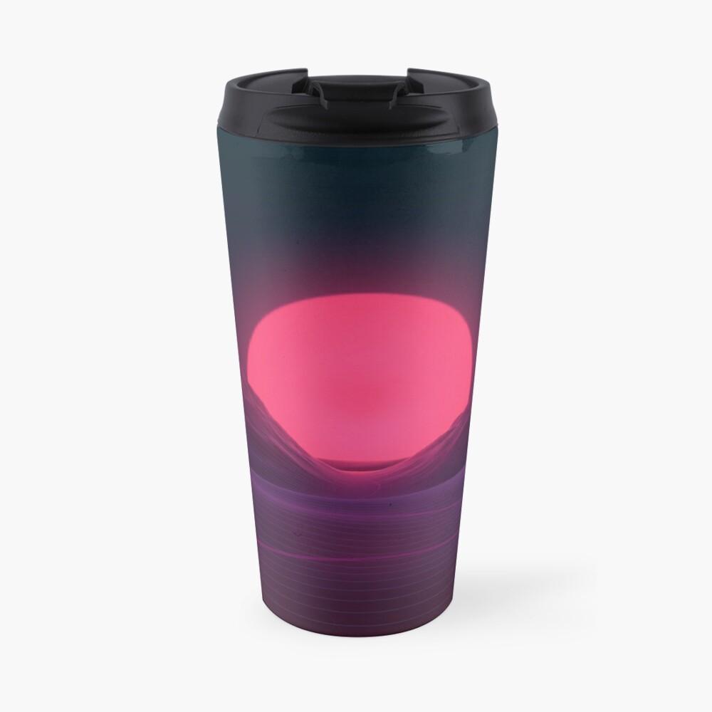 Neon Sunset Travel Mug