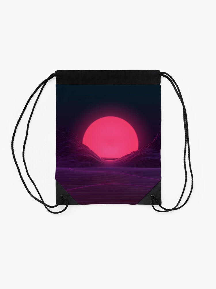Alternate view of Neon Sunset Drawstring Bag