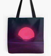 Neon Sunset Tote Bag