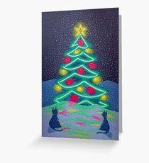 Bright December Night Greeting Card