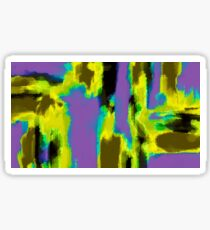 yellow green blue and black painting abstract Sticker