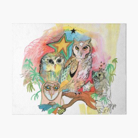 Owls and Stars Art Board Print