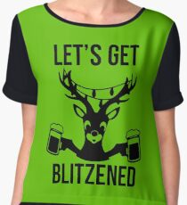 Let's Get Blitzened Women's Chiffon Top