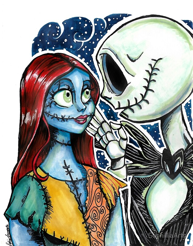 Jack and Sally: Canvas Prints   Redbubble