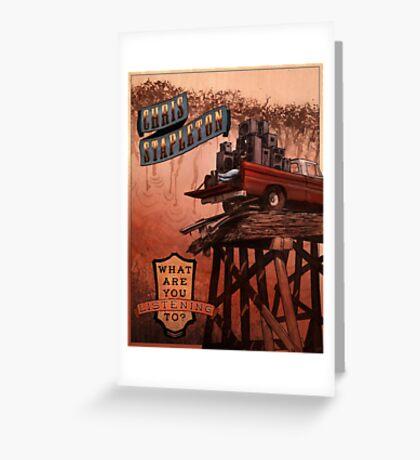 Chris Stapleton Poster Greeting Card