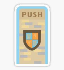 Fantasyland Trash Can Design Sticker