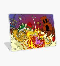 Conflagration in the Mushroom Kingdom Laptop Skin