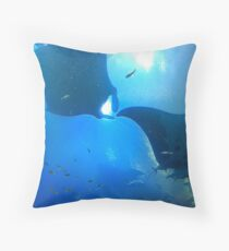 A pair of rays (manta rays) Throw Pillow