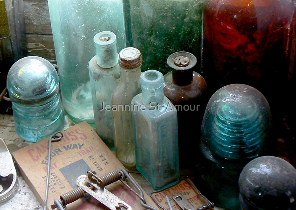These old bottles by Jeannine St-Amour