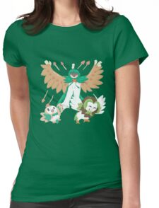 Rowlet and Evolutions Womens Fitted T-Shirt