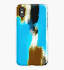 brown black and white painting texture  iPhone Case/Skin