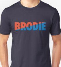 Brodie (Light Blue/Orange) Unisex T-Shirt