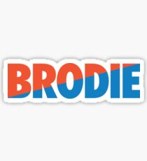 Brodie (Light Blue/Orange) Sticker