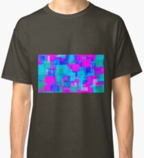 pink blue and green square abstract  Classic T-Shirt
