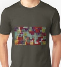 red blue purple and green square pattern  T-Shirt