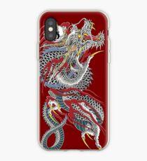 Vinilo o funda para iPhone Tatuaje del dragón de Yakuza