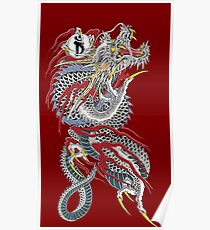 Yakuza Dragon Tattoo Poster