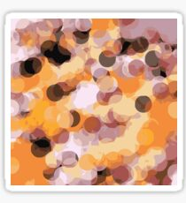 orange brown and black circle abstract Sticker