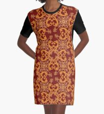 Redgold flourishes Graphic T-Shirt Dress