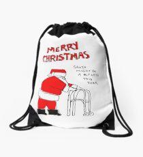 Slow Santa Drawstring Bag