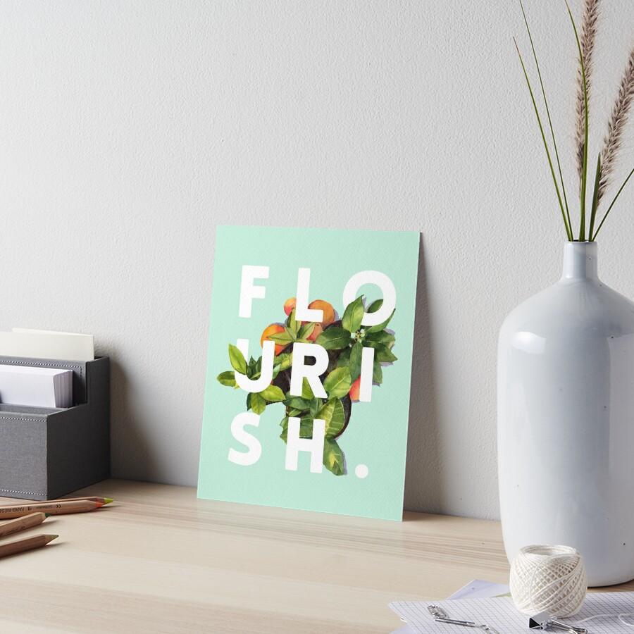 Flourish #redbubble #home #designer #tech #lifestyle #fashion #style Art Board Print