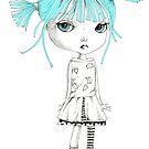 Turquoise Haired Girl by alphabetty