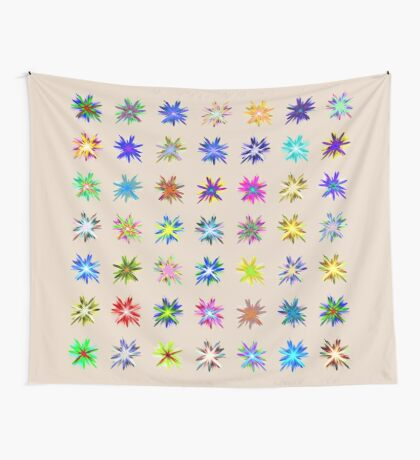 Flower blast structured chaos chaos #fractal art Wall Tapestry