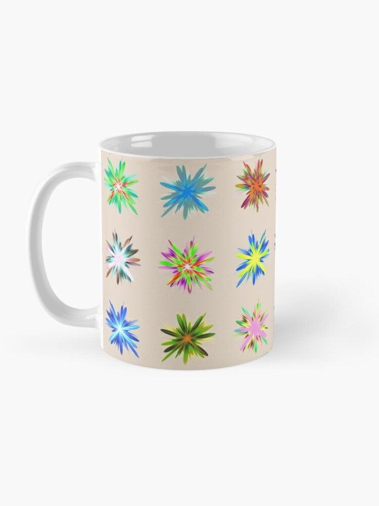 Alternate view of Flower blast structured chaos chaos #fractal art Mug