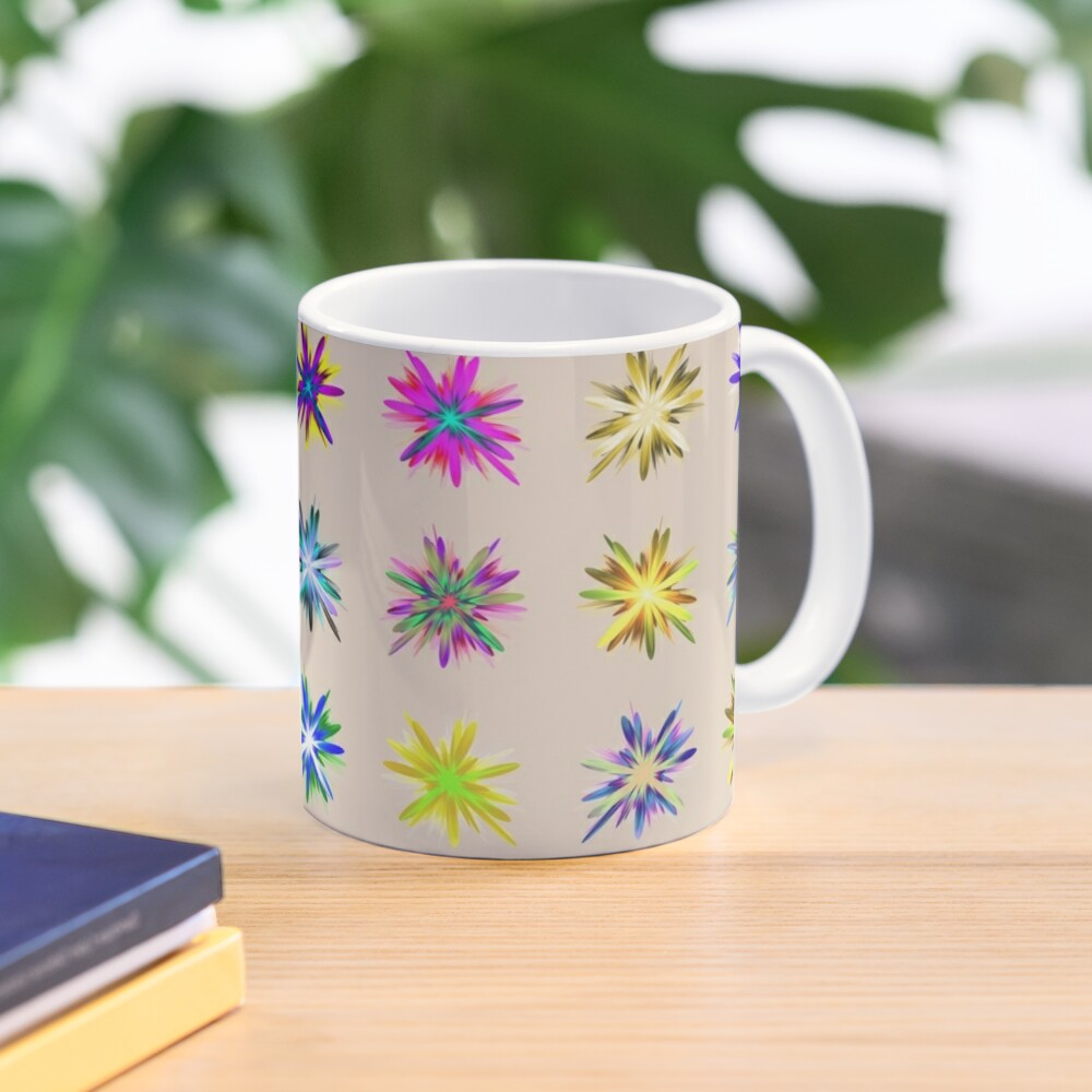 Flower blast structured chaos chaos #fractal art Mug