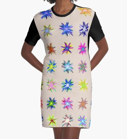 Flower blast structured chaos chaos #fractal art Graphic T-Shirt Dress