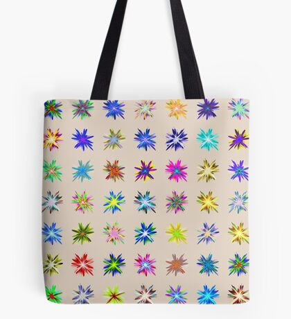 Flower blast structured chaos chaos #fractal art Tote Bag