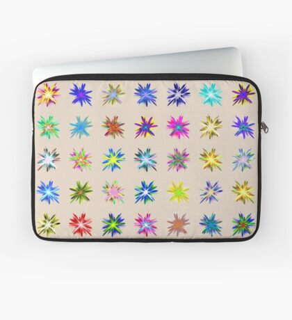 Flower blast structured chaos chaos #fractal art Laptop Sleeve