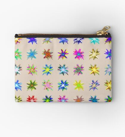 Flower blast structured chaos chaos #fractal art Zipper Pouch