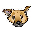Dog Head by binarygod
