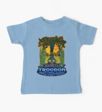 Retro Troodon in the Rushes (light-colored shirt) Baby Tee