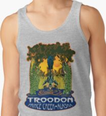 Retro Troodon in the Rushes (light-colored shirt) Tank Top