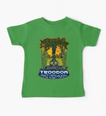 Retro Troodon in the Rushes (dark-colored shirt) Baby Tee