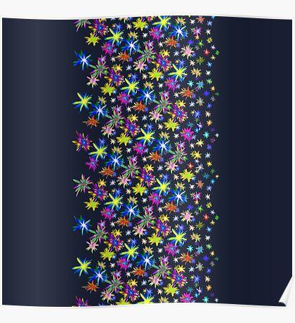 Flower blast structured chaos in stratosphere #fractal art Poster