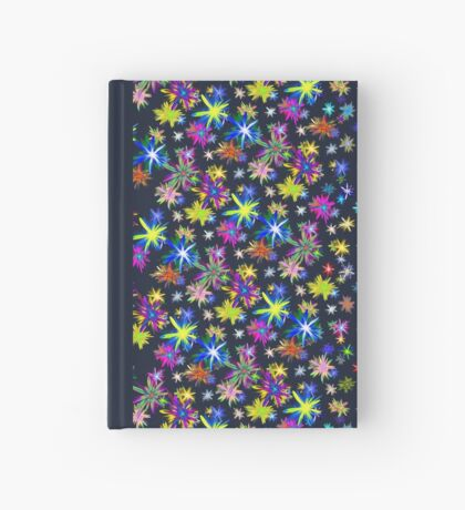 Flower blast structured chaos in stratosphere #fractal art Hardcover Journal